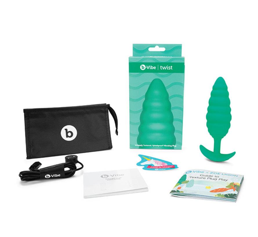 B-Vibe - Texture Plug Twist Groen