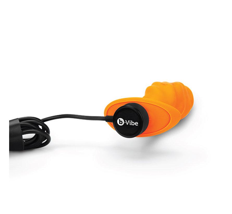 B-Vibe - Texture Plug Swirl Oranje