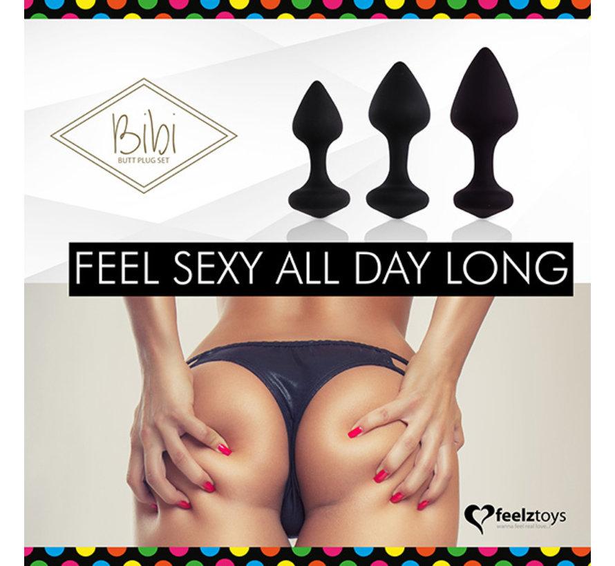 FeelzToys - Bibi Butt Plug Set 3 st. Zwart
