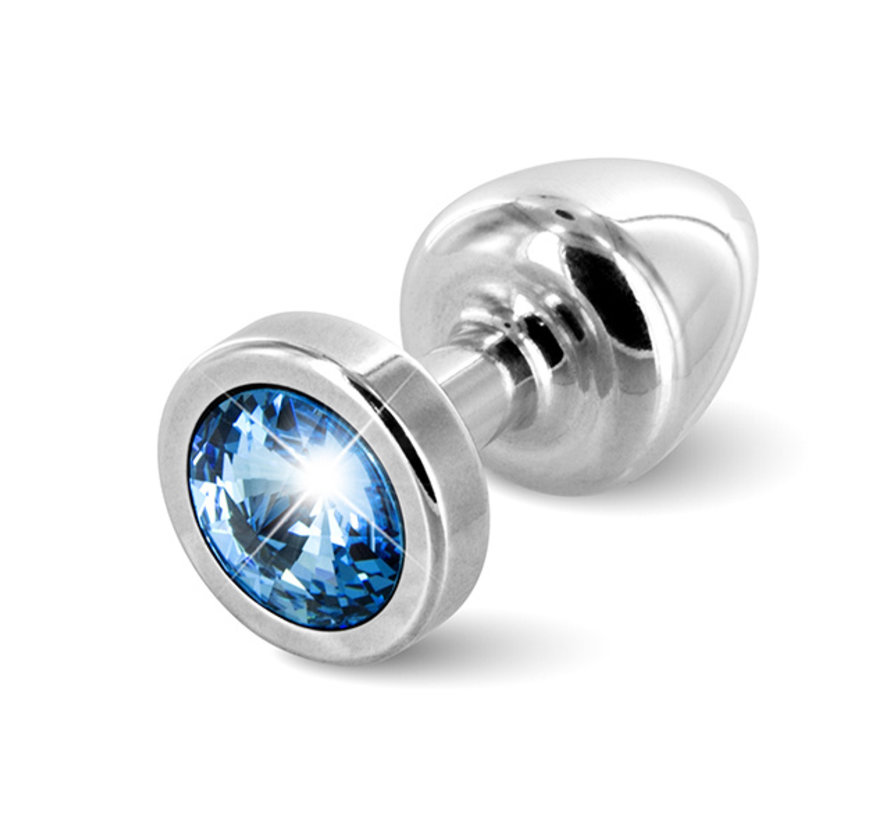 Diogol - Anni Butt Plug Rond 25 mm Zilver & Blauw