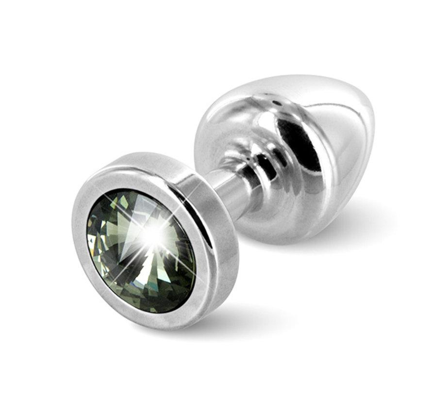 Diogol - Anni Butt Plug Rond 25 mm Zilver & Zwart
