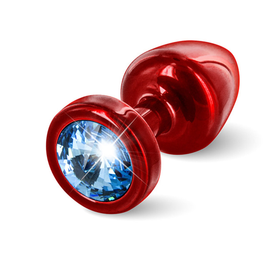 Diogol - Anni Butt Plug Rond 25 mm Rood & Blauw