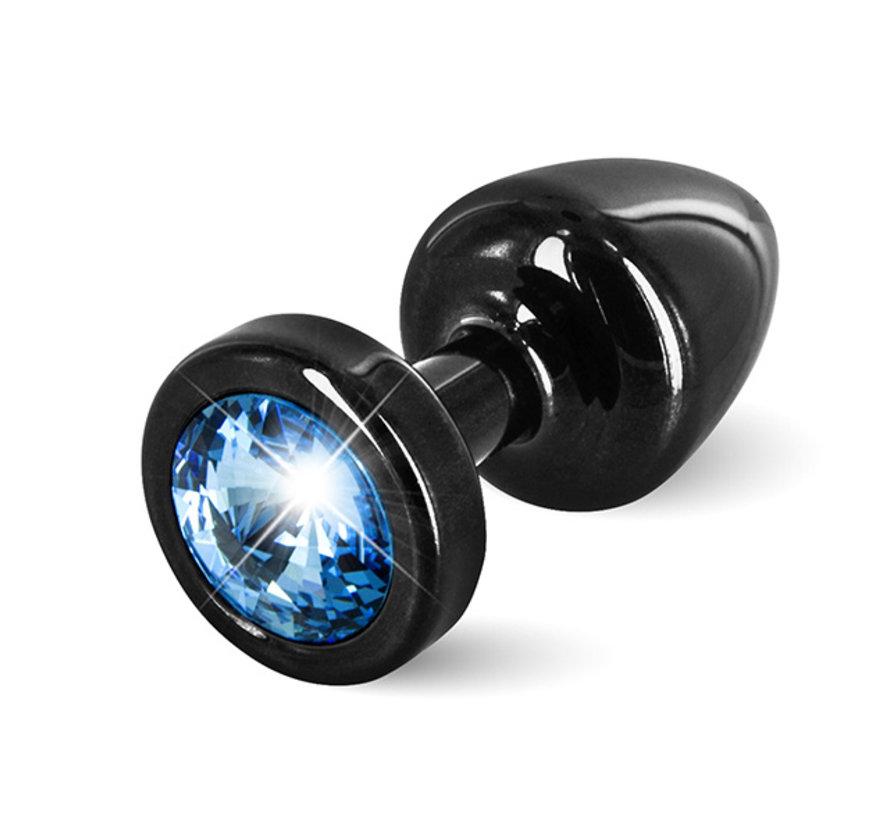 Diogol - Anni Butt Plug Rond 25 mm Zwart & Blauw