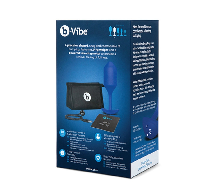 B-Vibe - Vibrerende Snug Plug XL Blauw