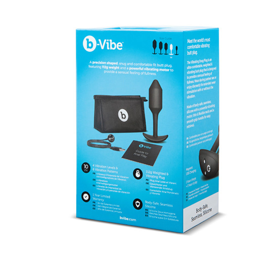 B-Vibe - Vibrerende Snug Plug M Zwart