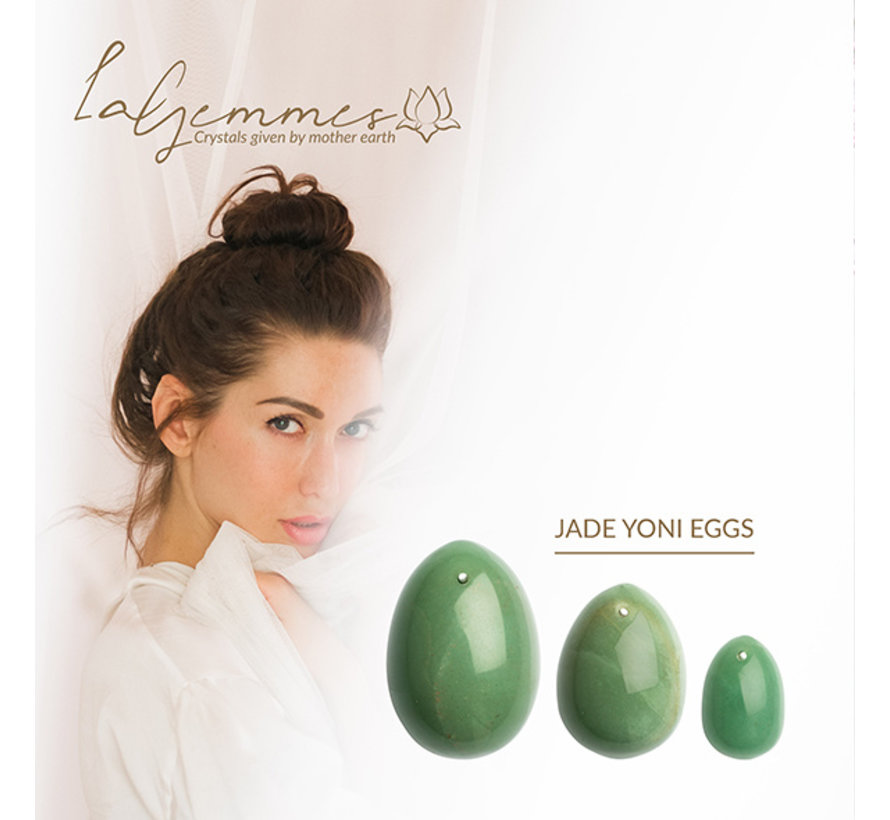 La Gemmes - Yoni Ei Set Jade (L-M-S)