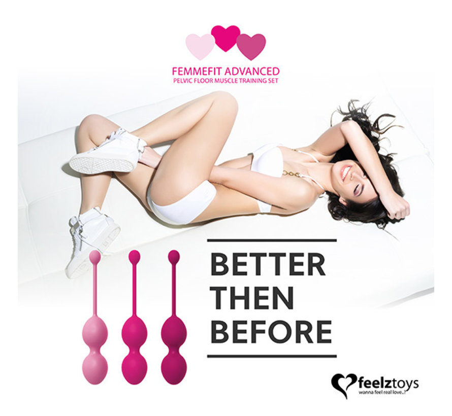 FeelzToys - FemmeFit Advanced Bekkenbodemspier Training Set 3 st.