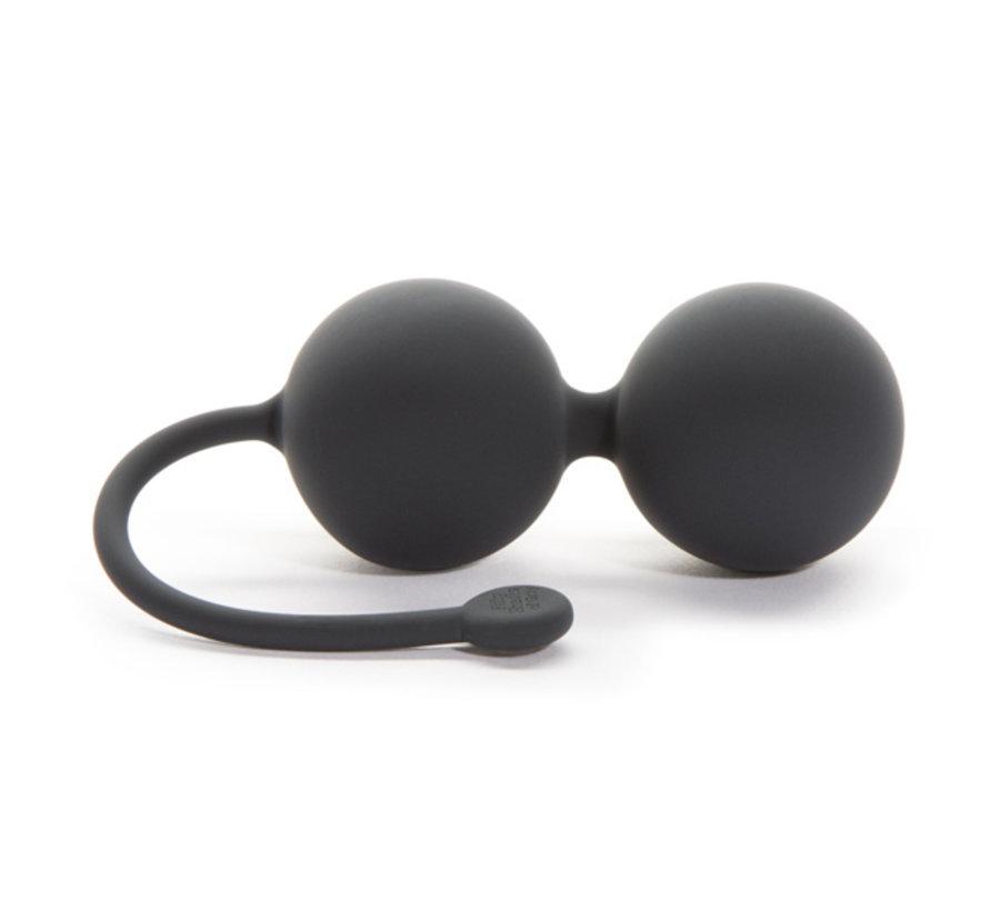 Fifty Shades of Grey - Siliconen Jiggle Balls Zwart