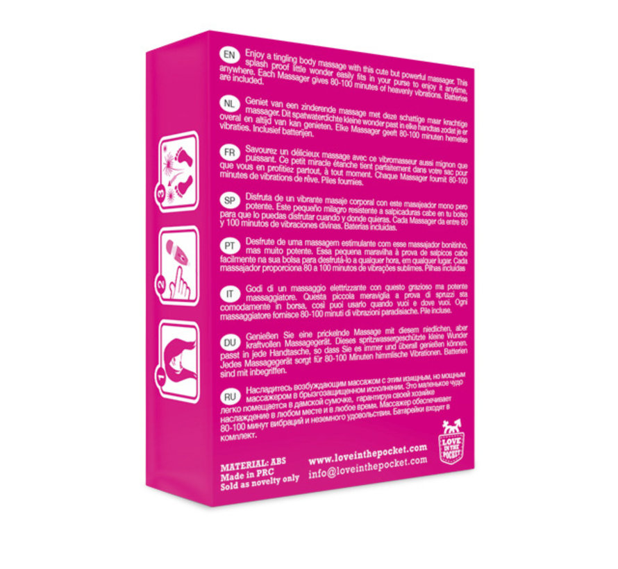 Love in the Pocket - Love Massager Mini Vibrating Body Stimulator