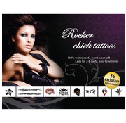 AdultBodyArt Tattoo Set - Rocker Chick