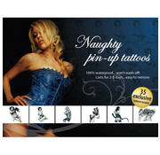 AdultBodyArt Tattoo Set - Naughty Pin-Up