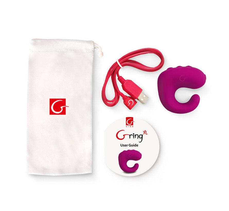 Gvibe - Gring XL Vinger Vibrator Sweet Raspberry