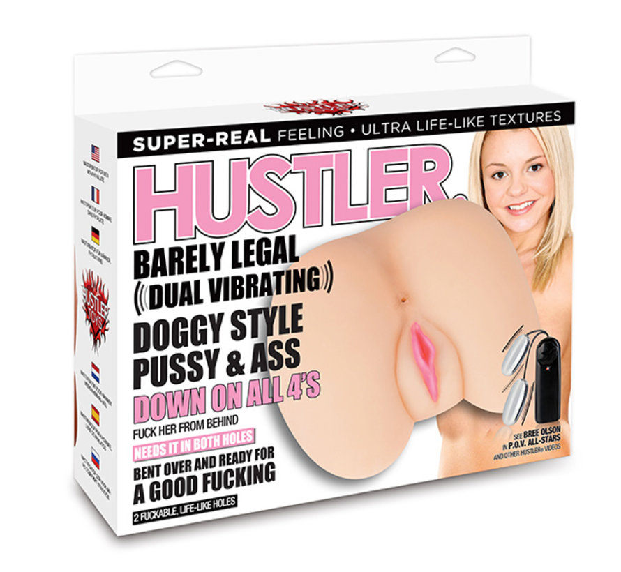 Hustler - Barely Legal Dual Vibrating Doggy Style Pussy & Ass
