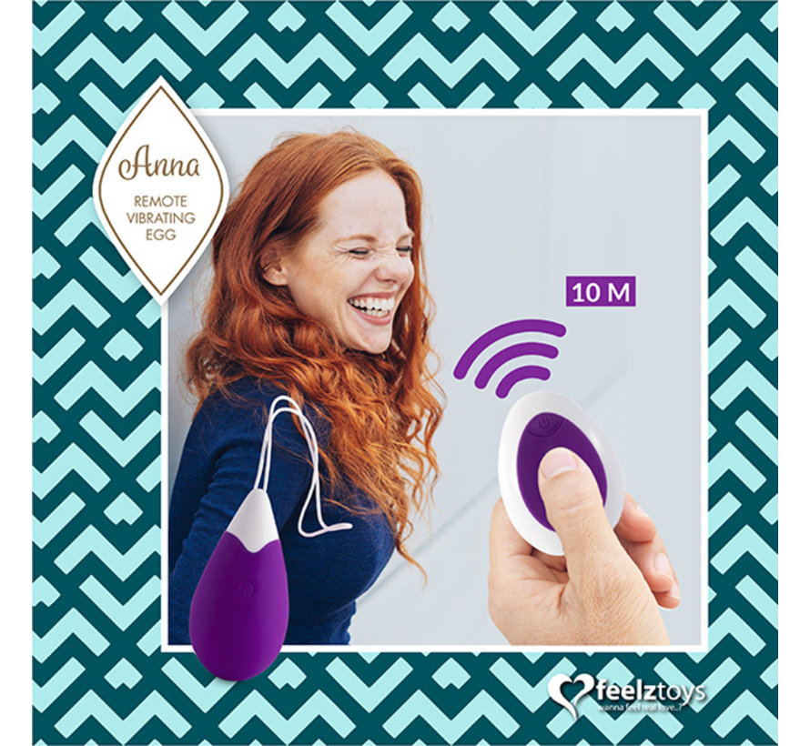 FeelzToys - Anna Vibrerend Ei Remote Donker Paars