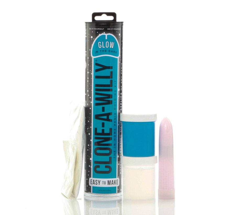 Clone-A-Willy - Kit Glow-in-the-Dark Blauw