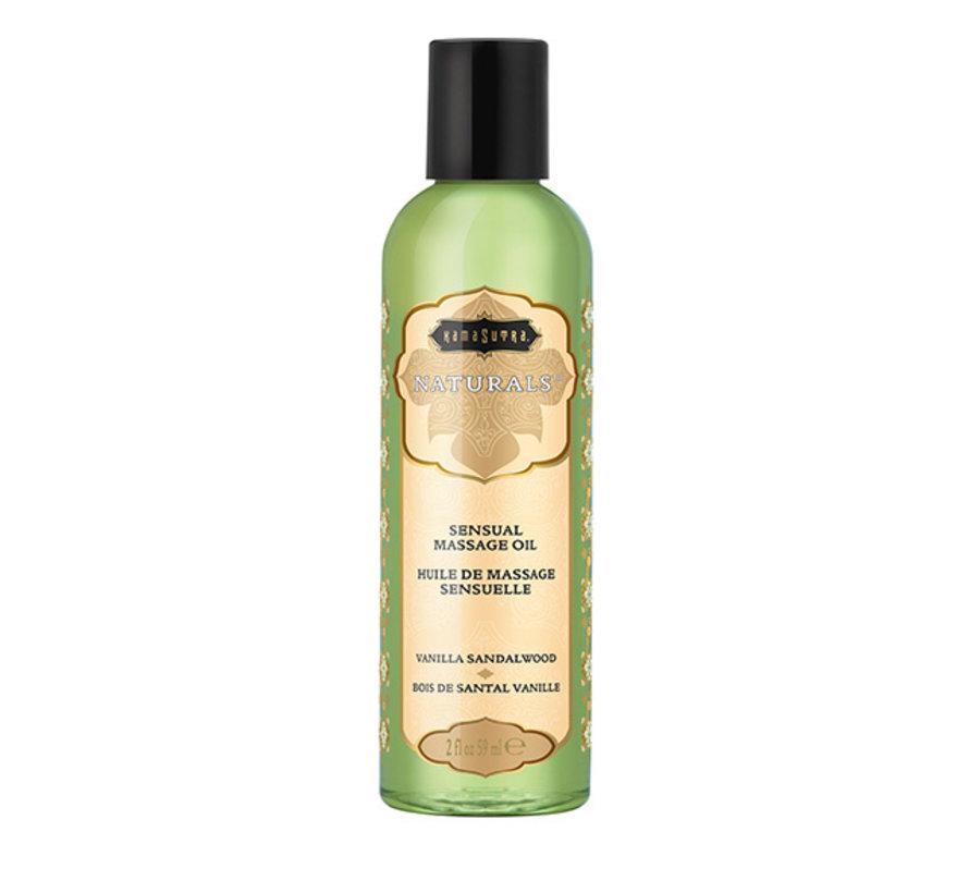 Kama Sutra - Naturals Massage Olie Vanille Sandelhout 59 ml