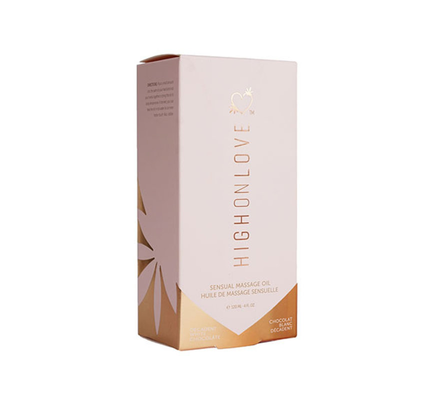 HighOnLove - Massage Olie Decadente Witte Chocolade 120 ml