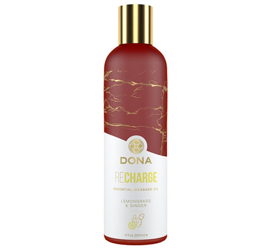 Dona - Essential Massage Olie Recharge Citroengras & Gember 120 ml