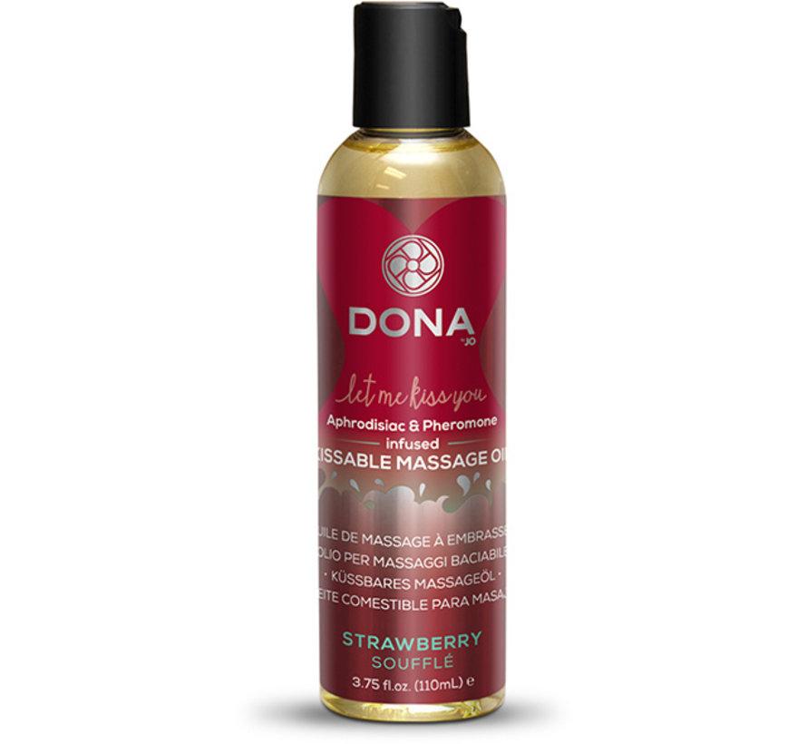 Dona - Kissable Massage Olie Aardbei Soufflé 110 ml