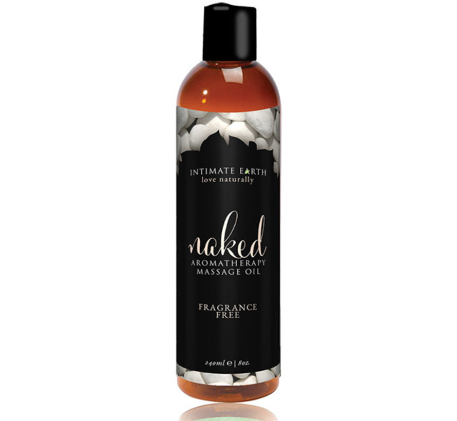 Intimate Earth - Massage Olie Naked Unscented 240 ml