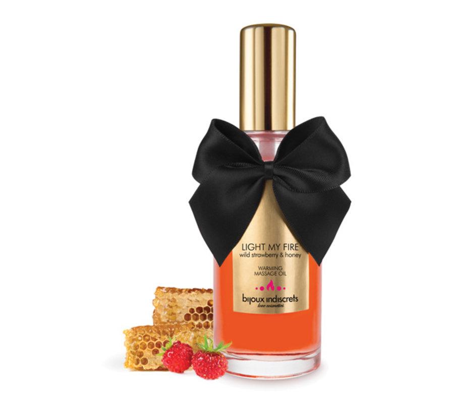 Bijoux Cosmetiques - Verwarmende Olie Wilde Aardbei