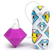 Tokidoki Tokidoki - Silicone Purple Diamond Clitoral Vibrator
