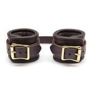 Coco de Mer Coco de Mer - Leather Wrist Cuffs L/XL Brown