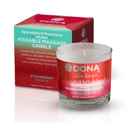 Dona Dona - Kissable Massage Kaars Aardbei Soufflé 135 gr