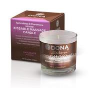 Dona Dona - Kissable Massage Kaars Chocolade Mousse 135 gr