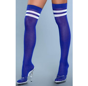 Going Pro Thigh High Stockings - Blue