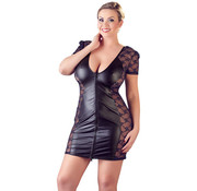 Cottelli Collection Wetlook Dress With Lace
