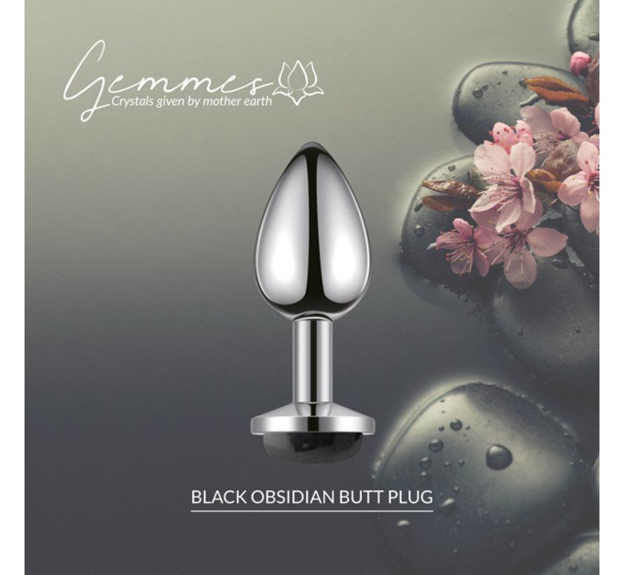 La Gemmes - Buttplug Zwarte Obsidiaan