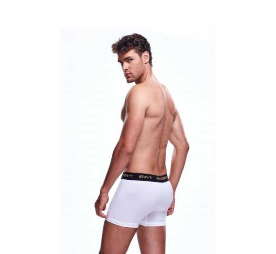 Envy Transparante Mesh Herenshort - Wit