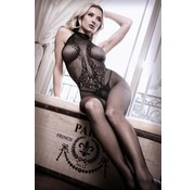 Sheer Fantasy Lace Catsuit With Halterneck
