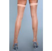 Great Catch Fishnet Backseam Stockings - Nude