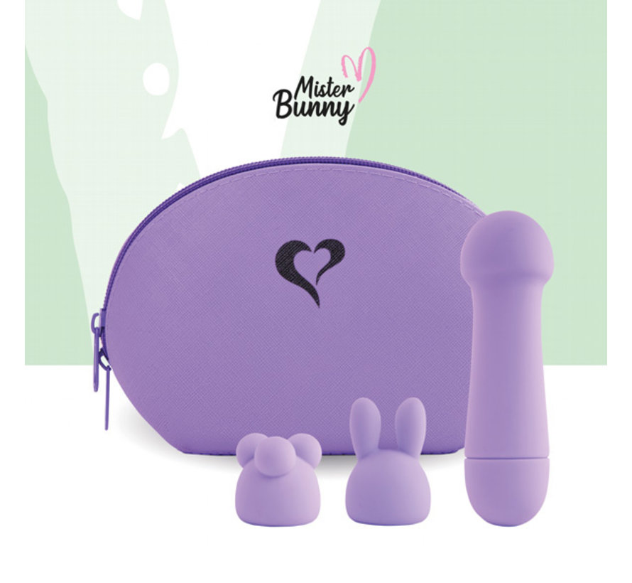 FeelzToys - Mister Bunny Massage Vibrator with 2 Caps Paars