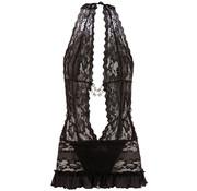 Cottelli Collection Little Lace Dress - Black