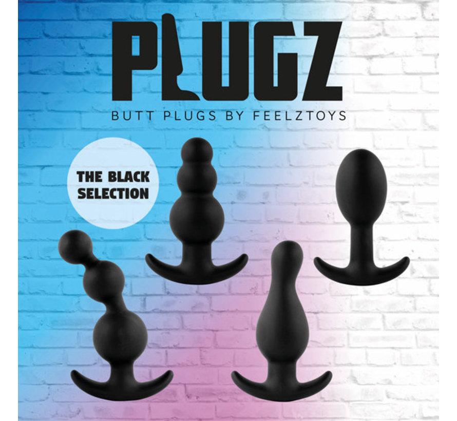 FeelzToys - Plugz Butt Plug Zwart Nr. 3