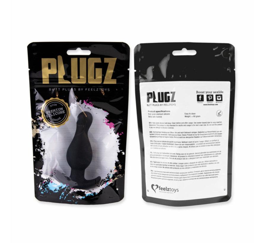 FeelzToys - Plugz Butt Plug Zwart Nr. 2