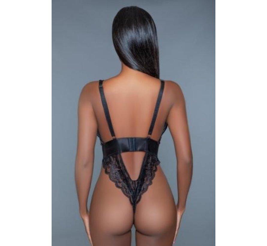 Estella Body Met Pailletten - Zwart/Roze