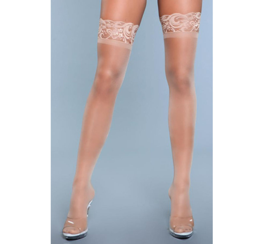 Lace Over It Hold-Up Kousen - Nude