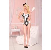 Music Legs 2-Delig Sexy Dienstmeisje Kostuum