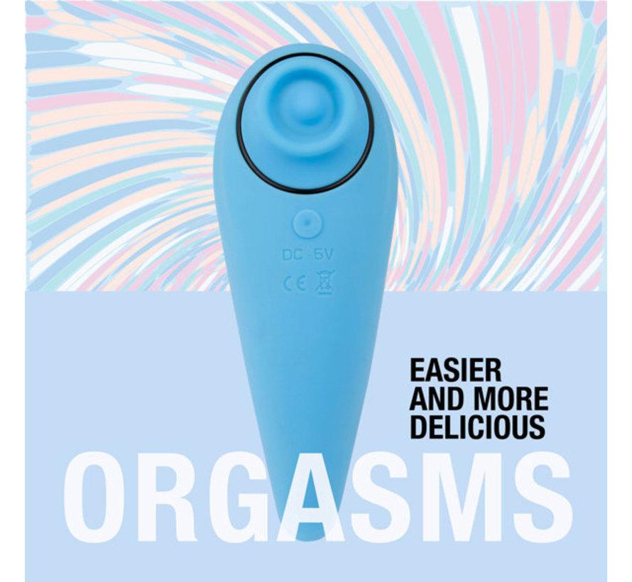 FeelzToys - FemmeGasm Tapping & Tickling Vibrator Turqoise