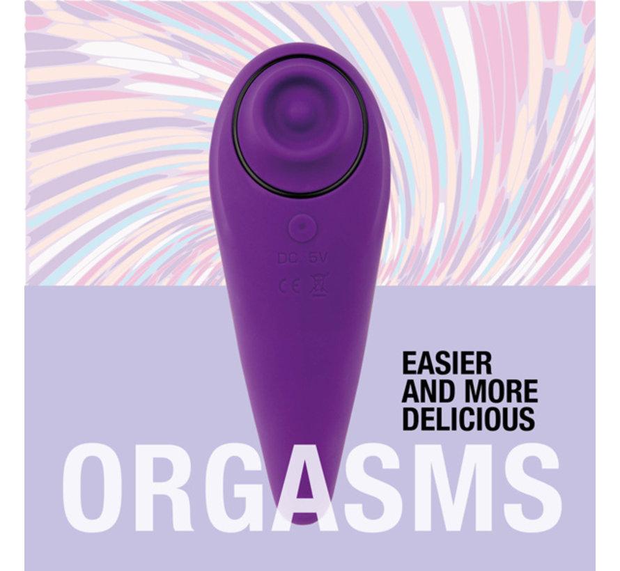 FeelzToys - FemmeGasm Tapping & Tickling Vibrator Paars