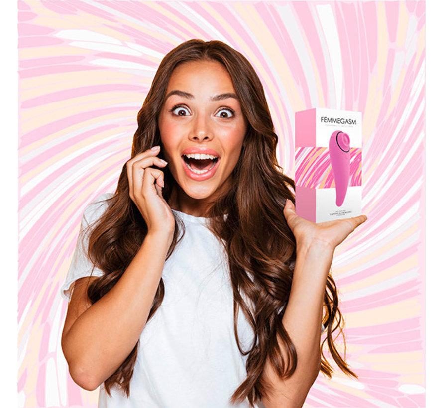 FeelzToys - FemmeGasm Tapping & Tickling Vibrator Pink
