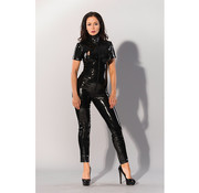 Guilty Pleasure GP Datex Catsuit Met Rits - Zwart