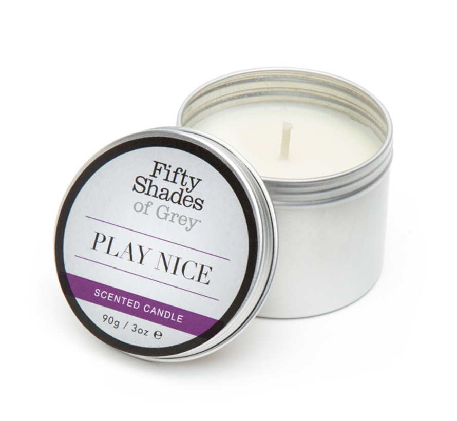 Fifty Shades of Grey - Play Nice Vanille Kaars 90 gram