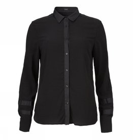 Gustav Stretch shirt zwart