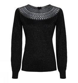 Gustav Lurex knit whit lace