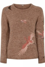 Austa knit with embroidery